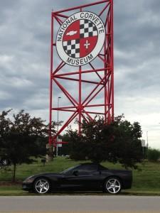 Cathi at Corvette Museum