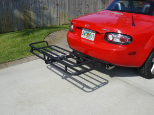 """Harbor Freight Cargo Carrier modified to fit a 1-1/4"""" receiver"""