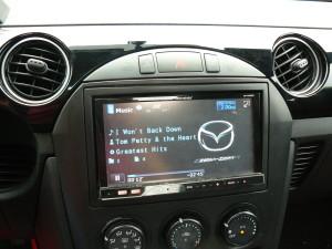 Double DIN Pioneer AVH-P4200DVD in 2008 Mazda Miata (MX-5)