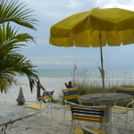 The beach at the Sun Burst Inn near St. Petersburg, Florida