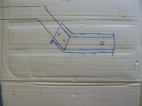 sketch on the cargo carrier box to showing original layo