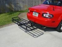 Cargo carrier on the Mazda Miata MX-