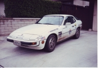 Porsche 924S at end of 1990 One Lap of America