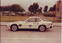 Porsche 924S at start of 1990 One Lap of America